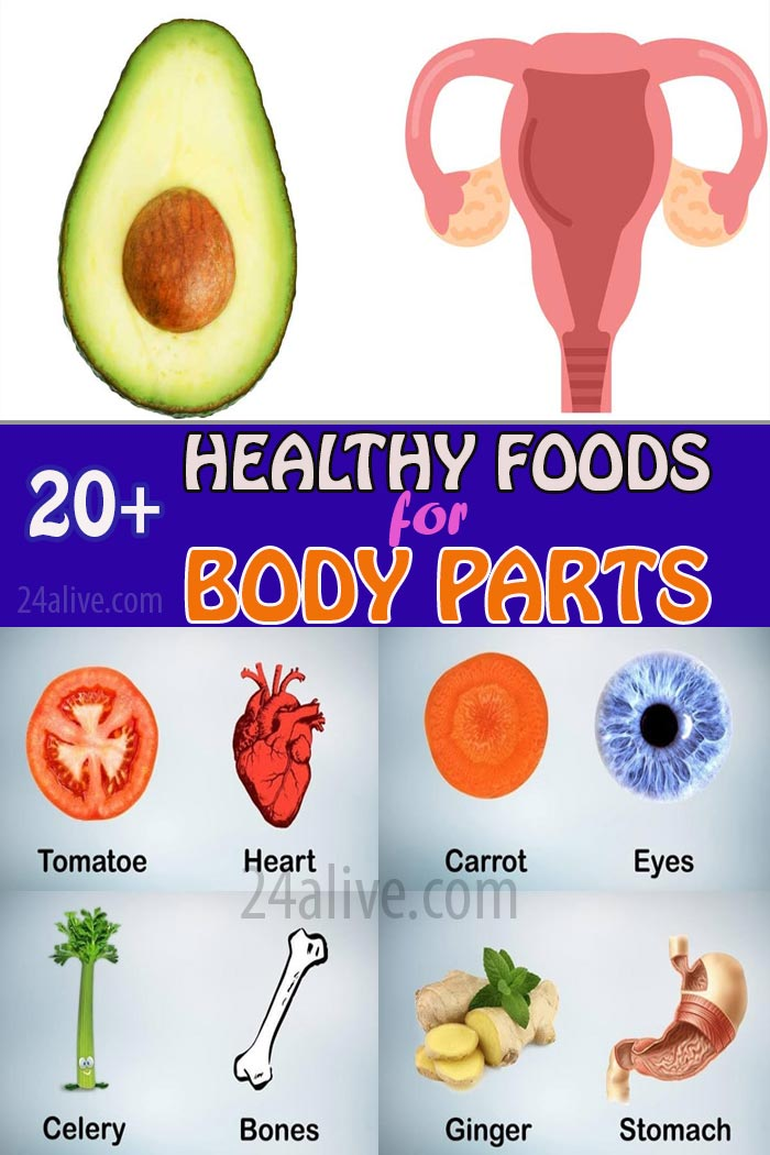 healthy foods for specific body parts