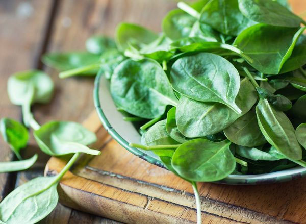raw spinach